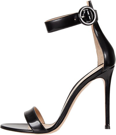 Gianvito Rossi Portofino High Heel Sandal with Toe Band and Ankle Strap