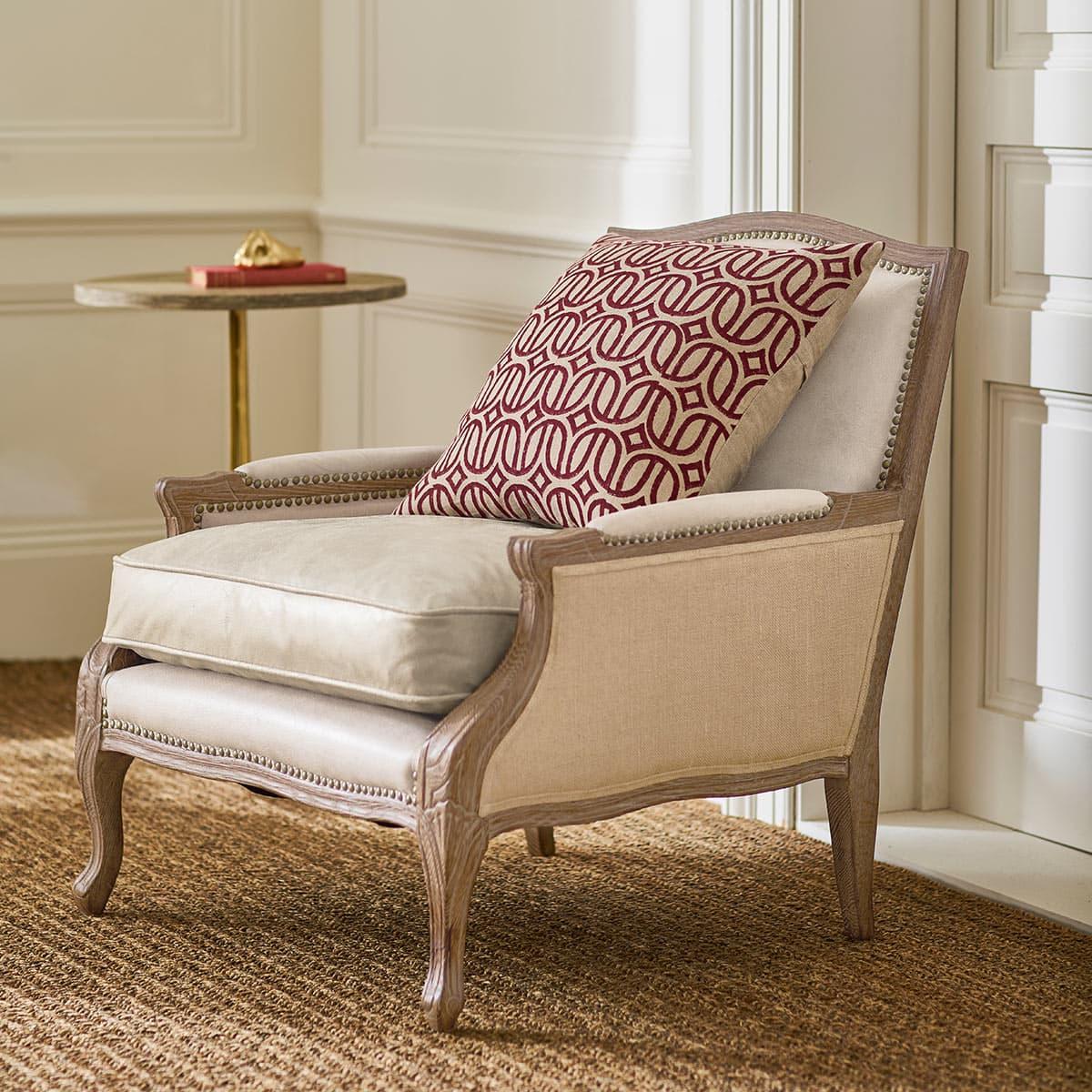 Red Linen Scatter Cushion Tassel