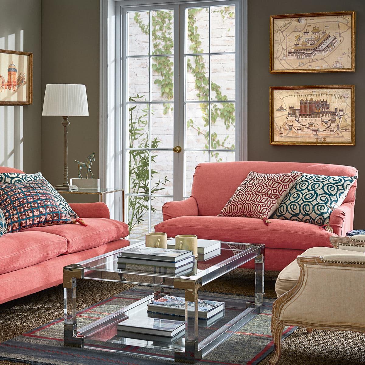 Linen Scatter Cushions Tassel Design