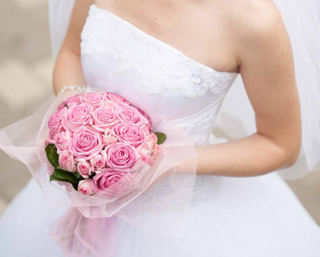 Pink Rose Bouquet Wedding Flowers