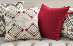 Scatter Cushion Large Blue Red Native American Geometric