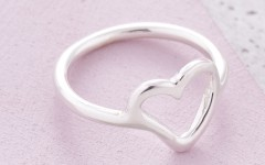 Scarlett Jewellery Silver Simply Heart Ring