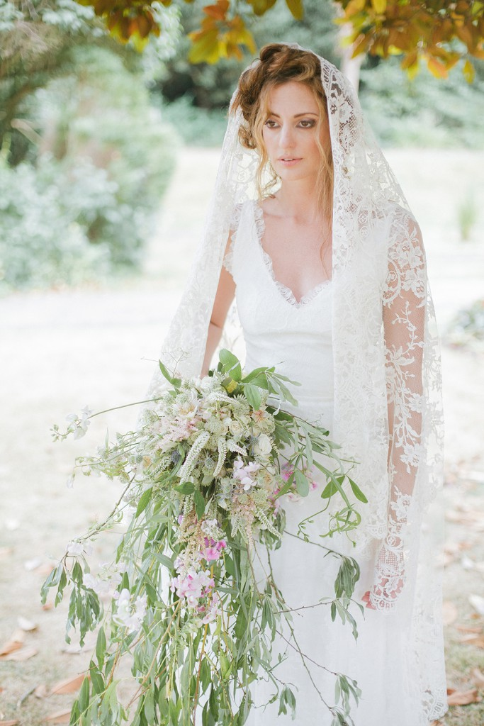 ANN GUISE Silk Wedding Veil