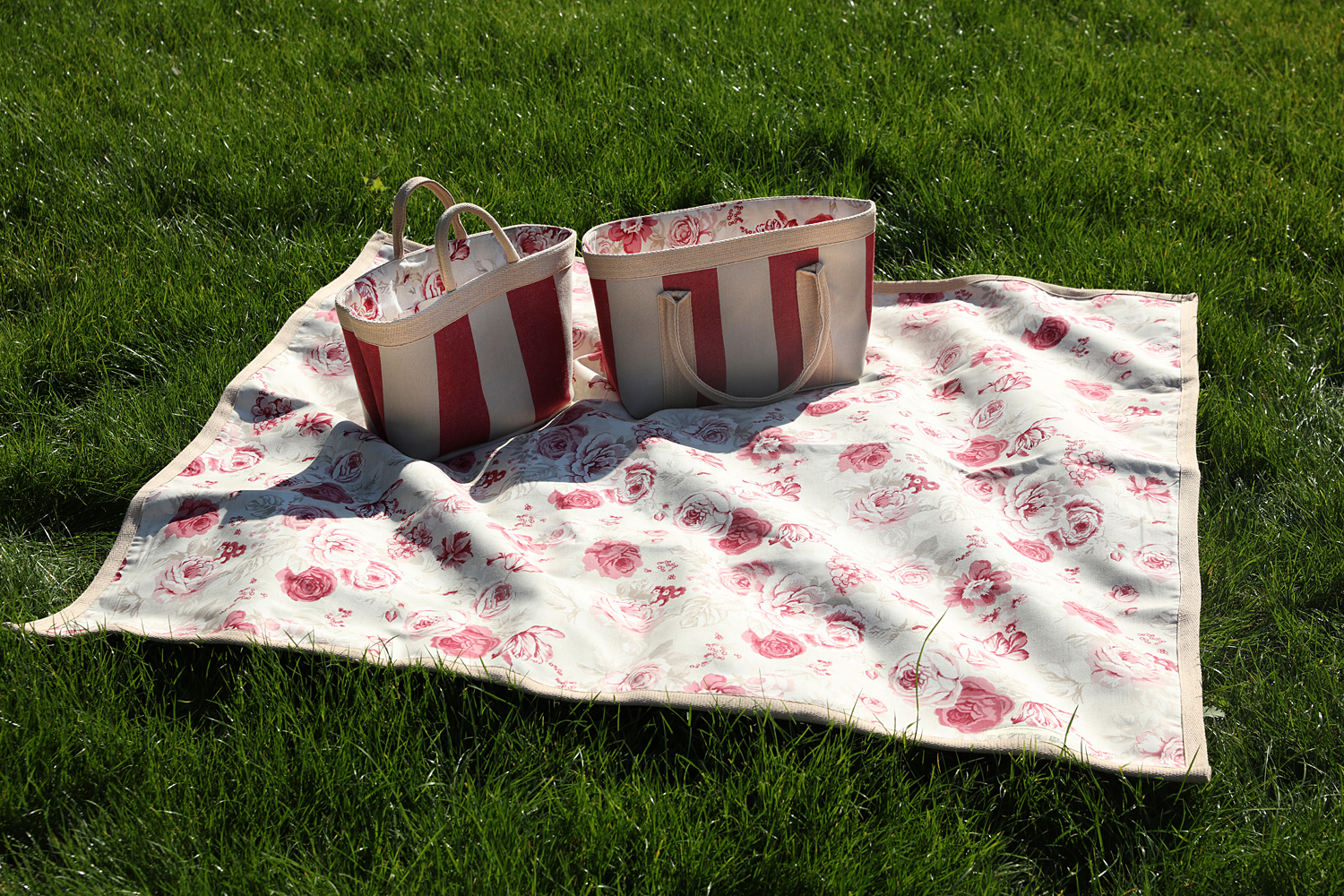 Red Roses Picnic Bag and Rug Set