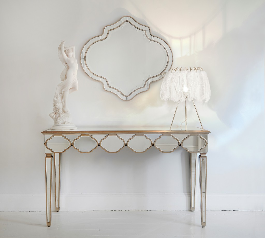 The French Bedroom Company Alameda Mirrored Console