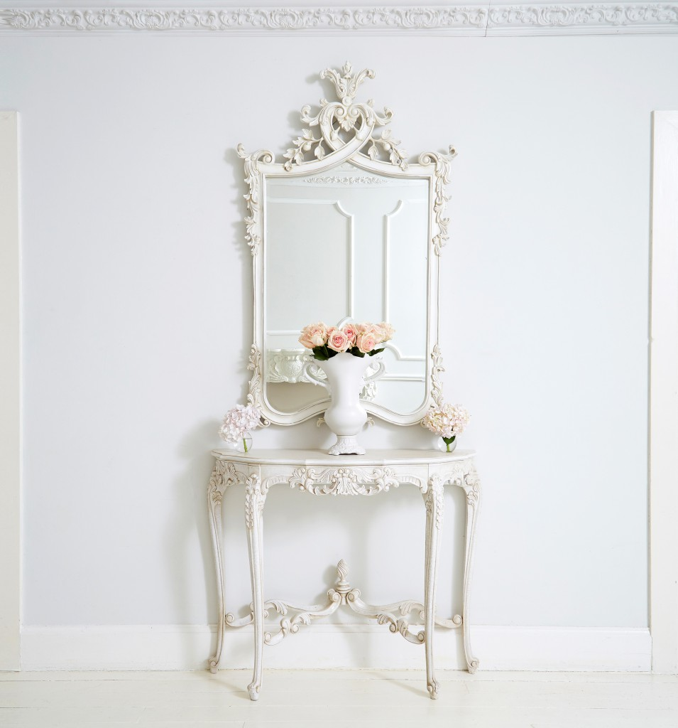 The French Bedroom Company Provencal Marie Antoinette White Console Table