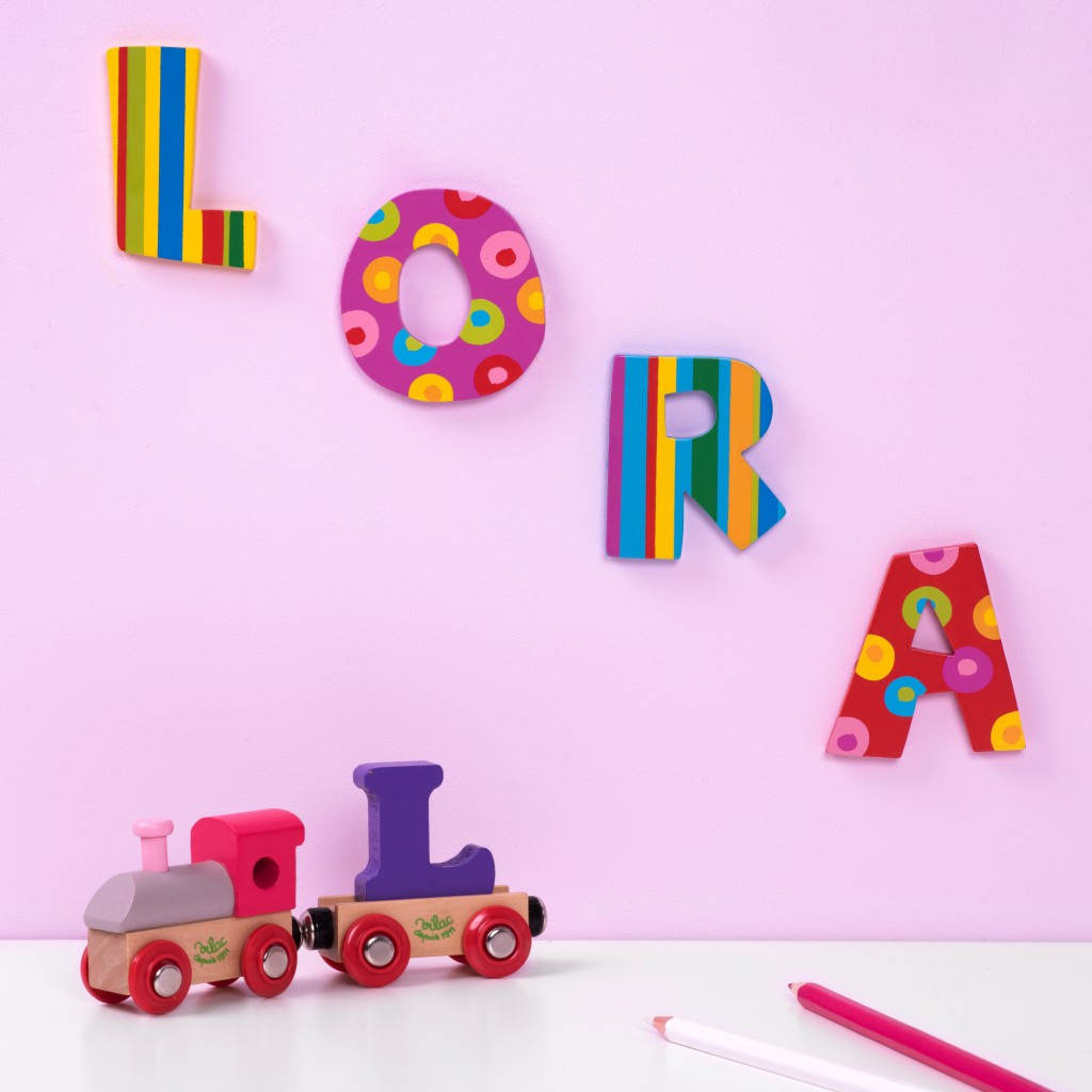 Stripes and Spots Wooden Alphabet Letters
