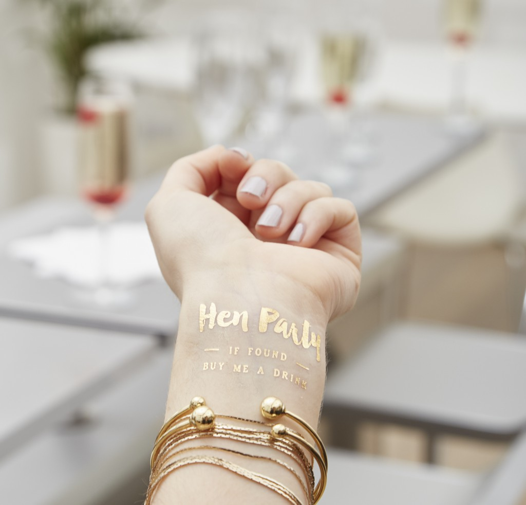 Hen Party Temporary Gold Tattoo