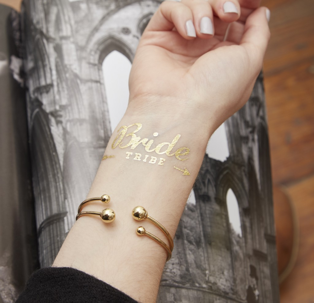 Gold Flash Bride Tribe Temporary Tattoo