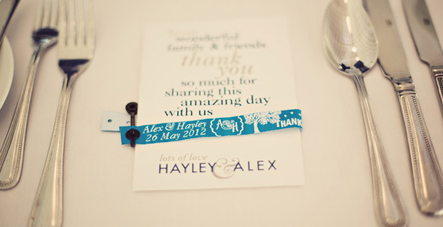 Personalised Wedding Wristbands
