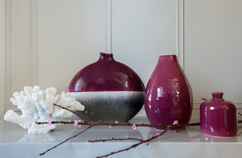 Kelly Hoppen Teardrop Vase Deep Crimson