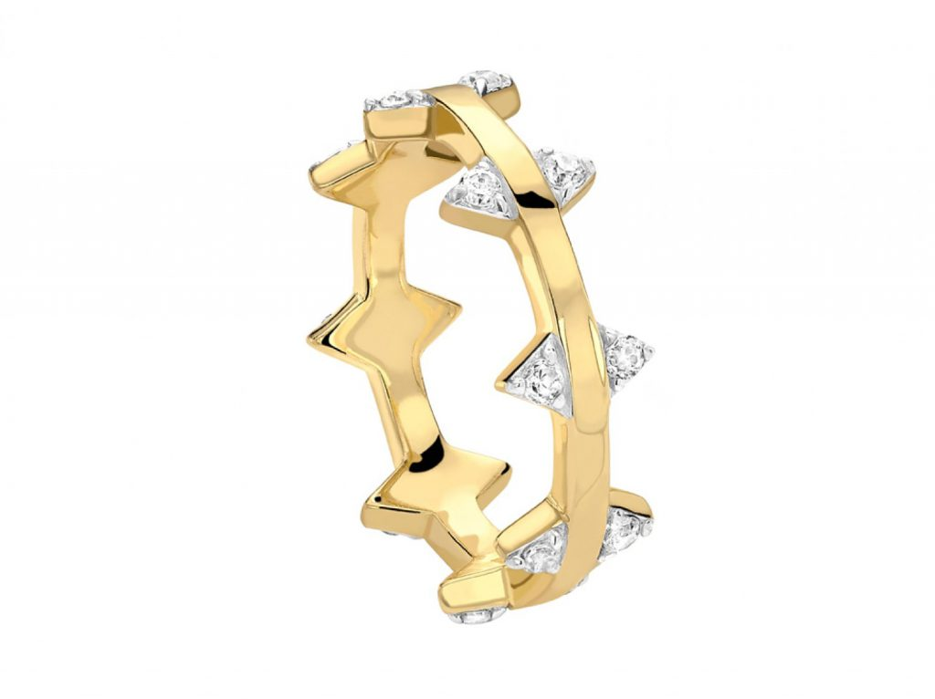 PAVE DOUBLE ARROW RING MISSOMA