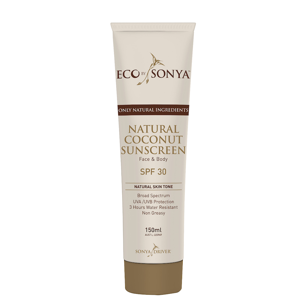 natural coconut sunscreen tinted