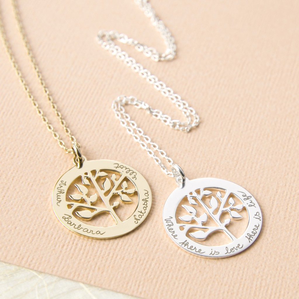 Merci Maman Personalised Tree of Life Necklace