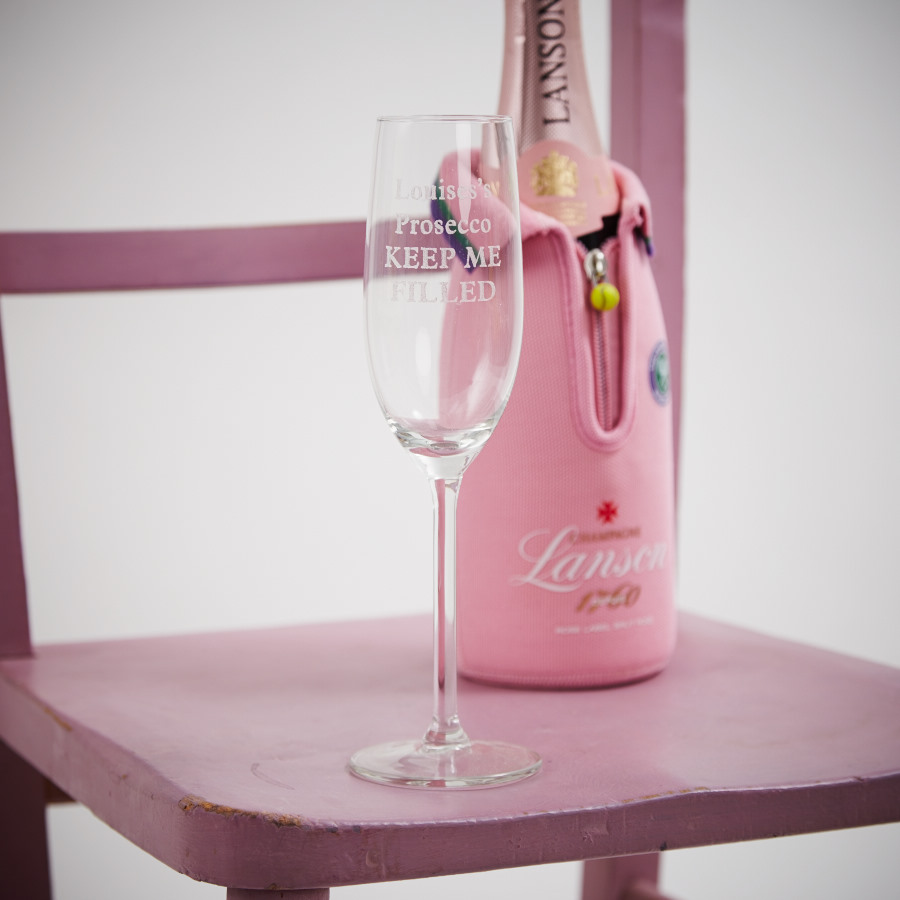 Personalised Prosecco Champagne Flute Glass