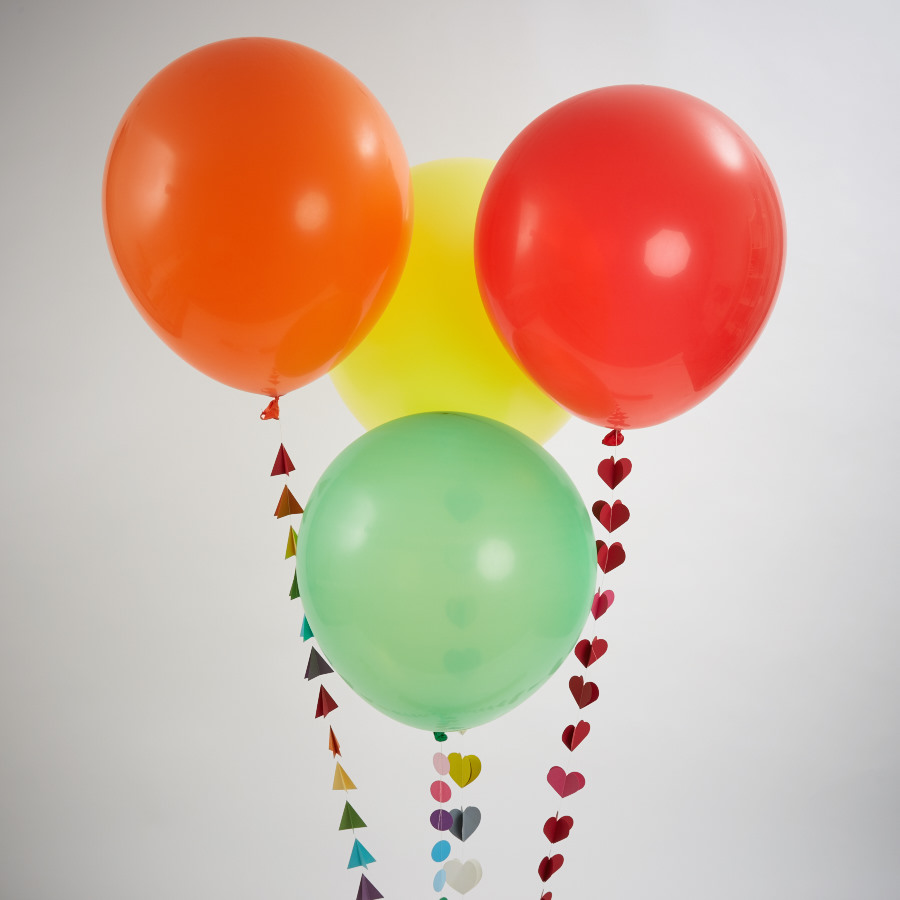 Rainbow Bright Giant Balloon with Handmade Tail