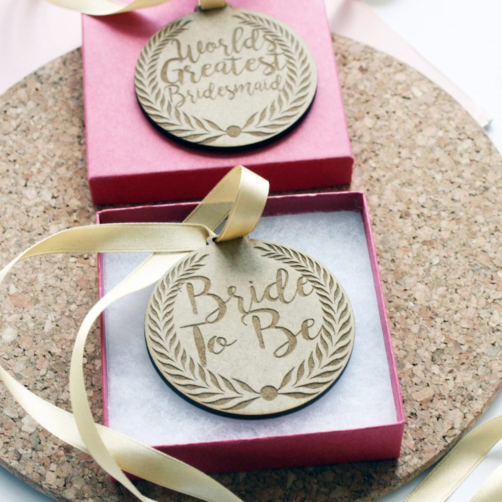 Personalised Bridal Medal
