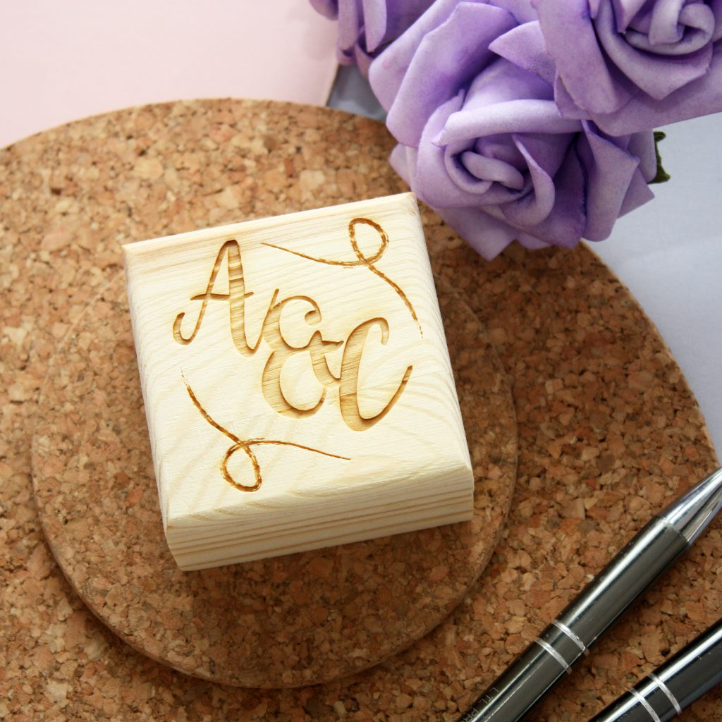 Personalised Initials Ring Box