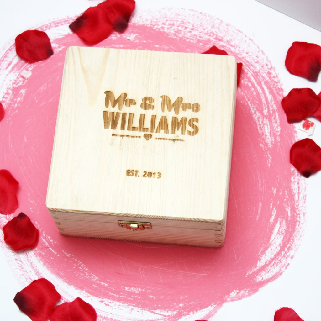 Personalised Wedding Wooden Box