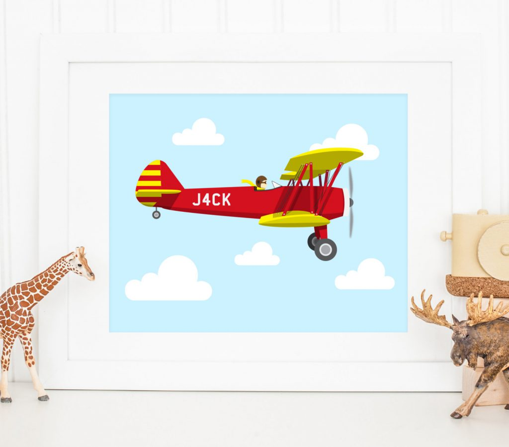 Custom Kids Plane Illustration
