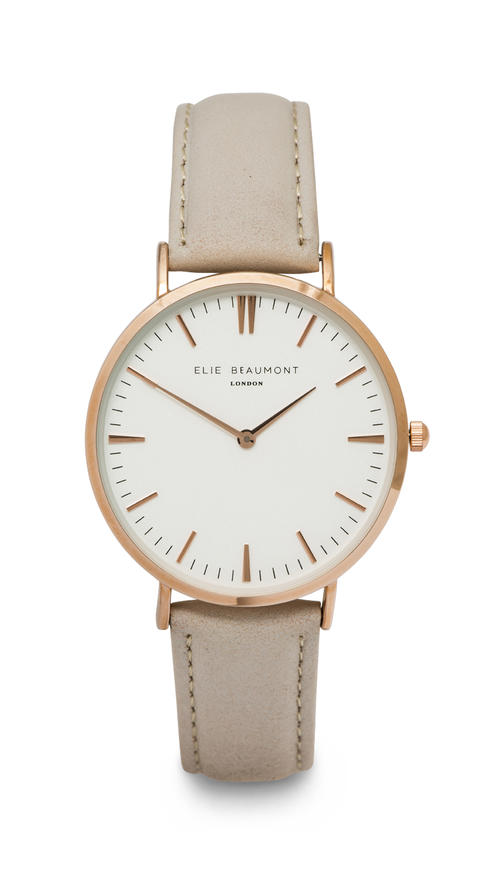 Elie Beaumont Oxford Ladies - Stone Nappa Leather