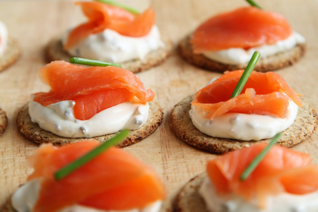 Salmon Crostini Party Food