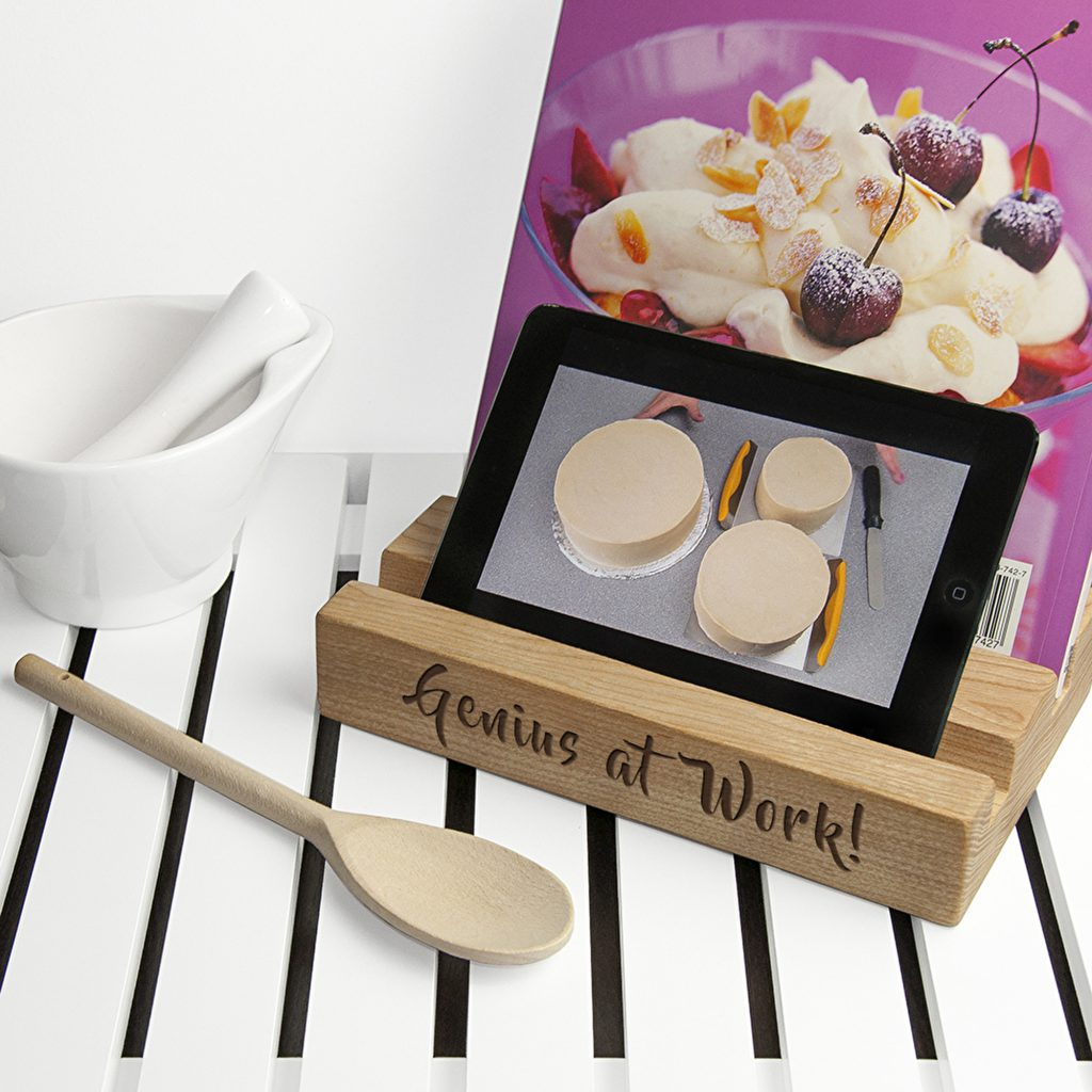 Double Kitchen Recipe Book Tablet Holder The Letteroom