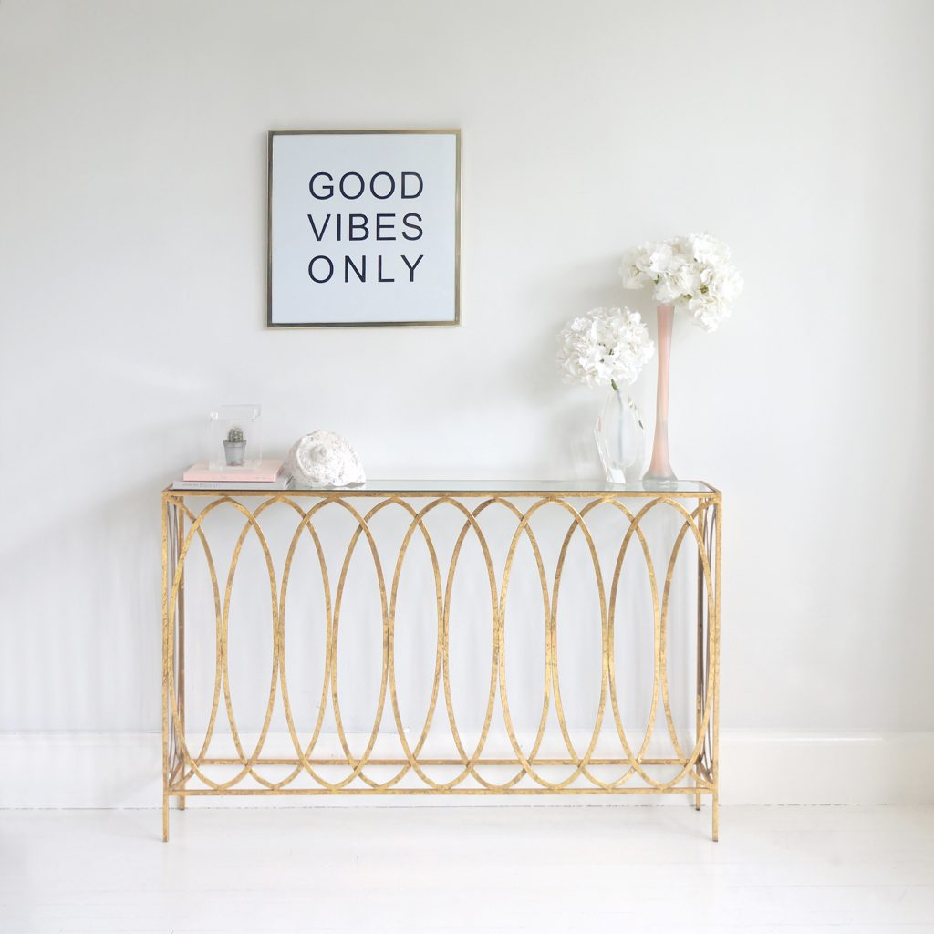 The French Bedroom Company Slim Gold Console Table