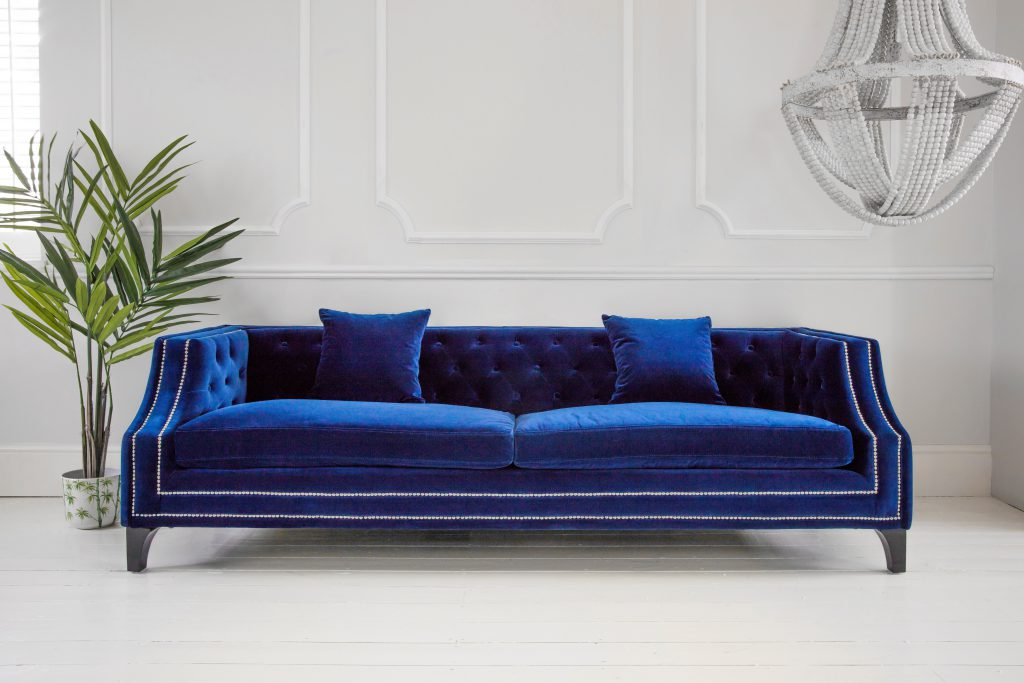 The French Bedroom Company Imperial Blue Velvet Sofa