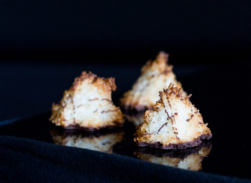 Yvonne and Guite Dark Chocolate Coconut Macaroons