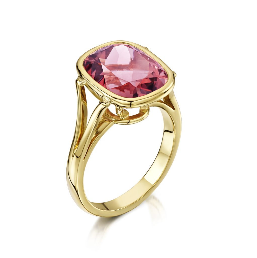 Flamingo Jewellery Rubilite 18ct Yellow Gold Ring