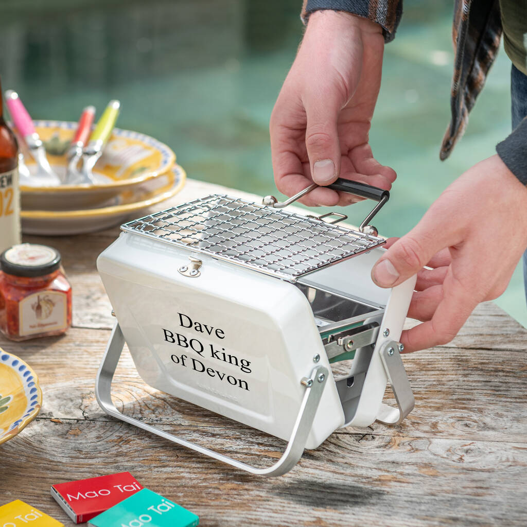 Personalised Table Top Portable BBQ Camping Barbecue