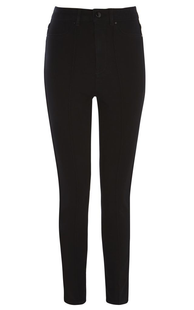 Karen Millen High-Waisted Skinny Jeans Black
