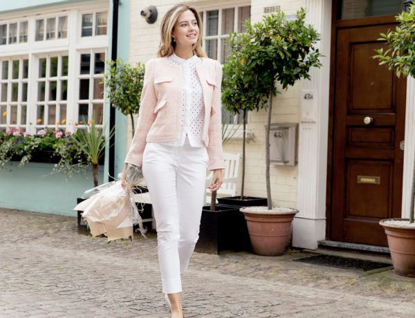 Chelsea Box Jacket in Pale Pink Charlotte London