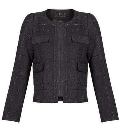 Chelsea Box in Midnight Black Charlotte London Cropped Jacket