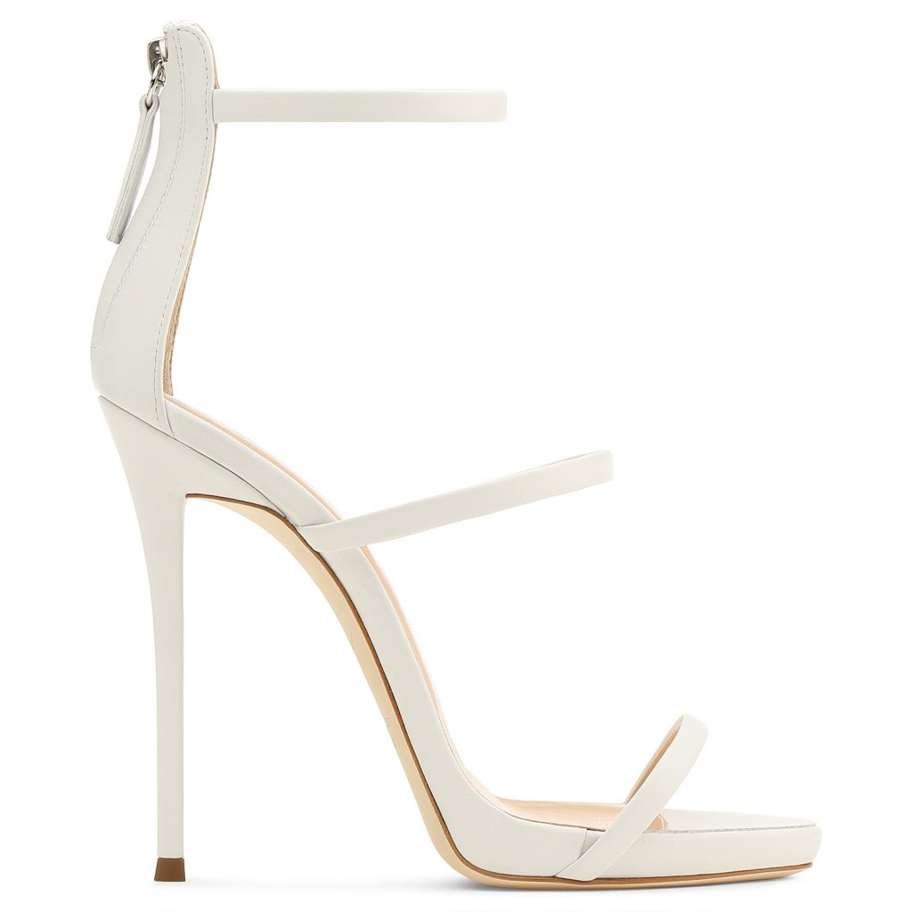 Harmony White Leather Sandals Giuseppe Zanotti
