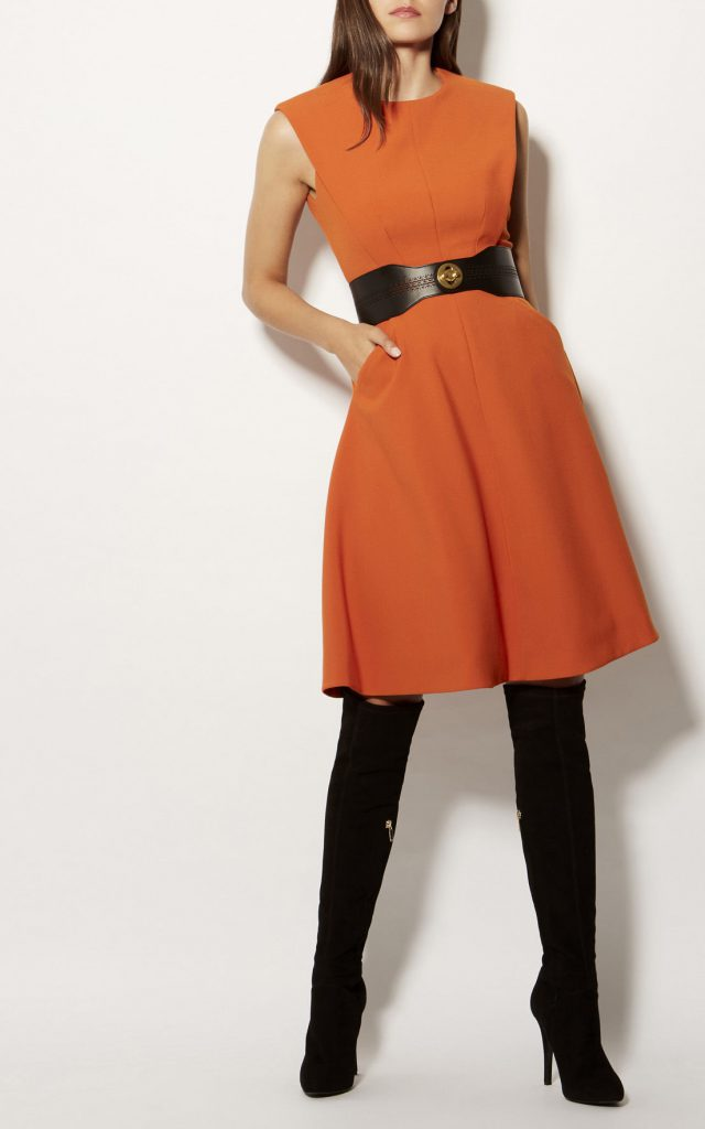 Karen Millen A-Line Dress Orange