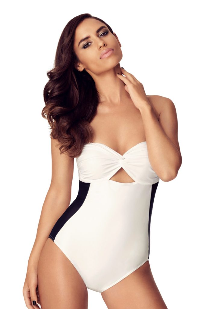 TRIPP Swim Pietro Bandeau Black and White Swimsuit