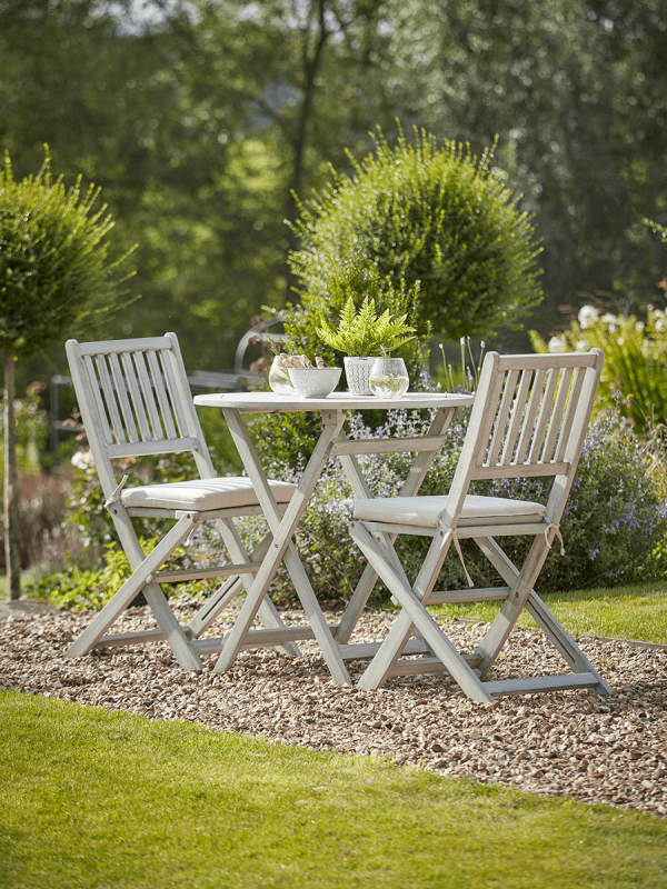 Ravenna Bistro Set Outdoor Wooden Furniture Small Table and Chairs
