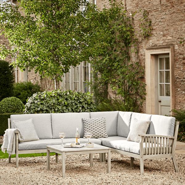 Ravenna Corner Set Outdoor Wooden Furniture Lounge Sets