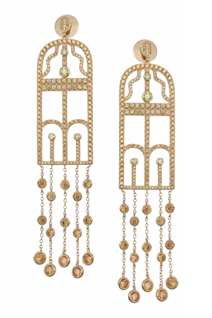 Claudia Florentina Amour Collection The Kiss Earrings Gold