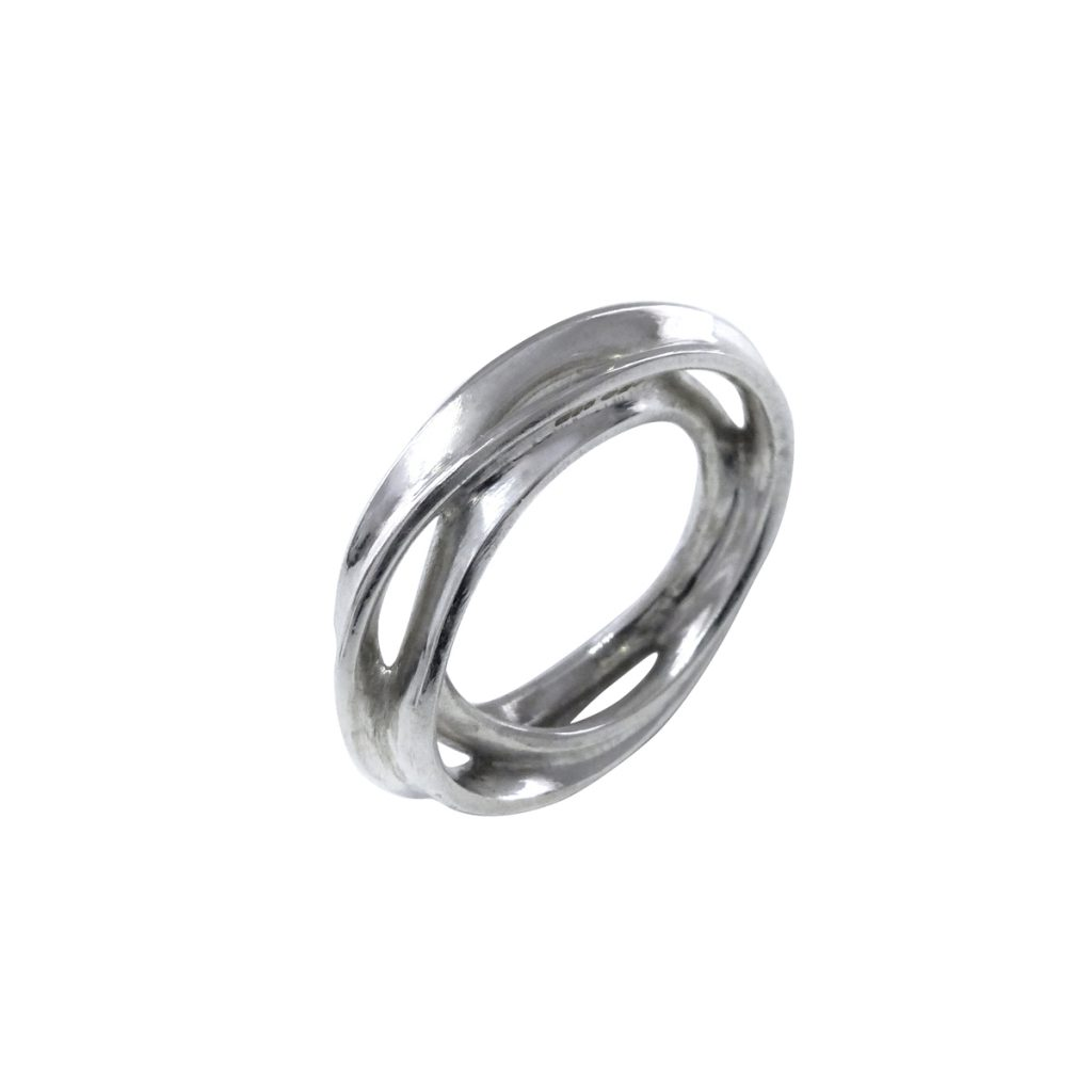 VerticesEdge Luxury Jewellery Passion White Sterling Silver Ring