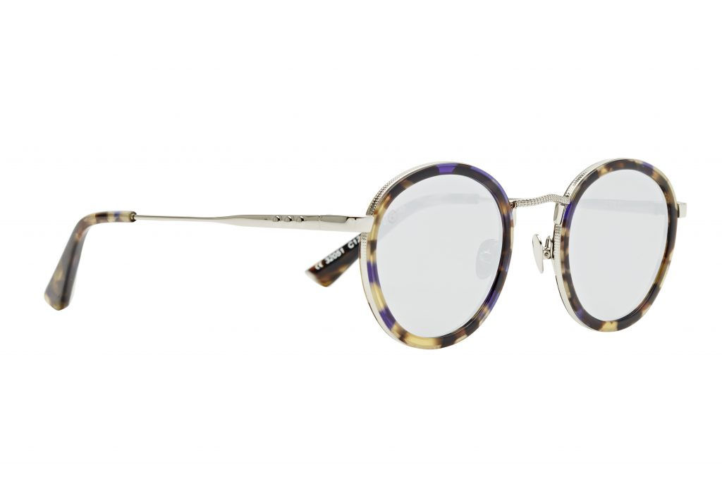 Classic Brown and Yellow Havana Tortoise Shell with Injected Purple Acetate Frame Taylor Morris Eyewear