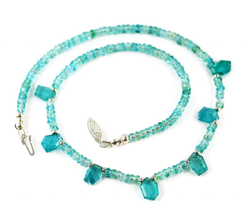 Blue Apatite Necklace in Sterling Silver Jill McCrystal