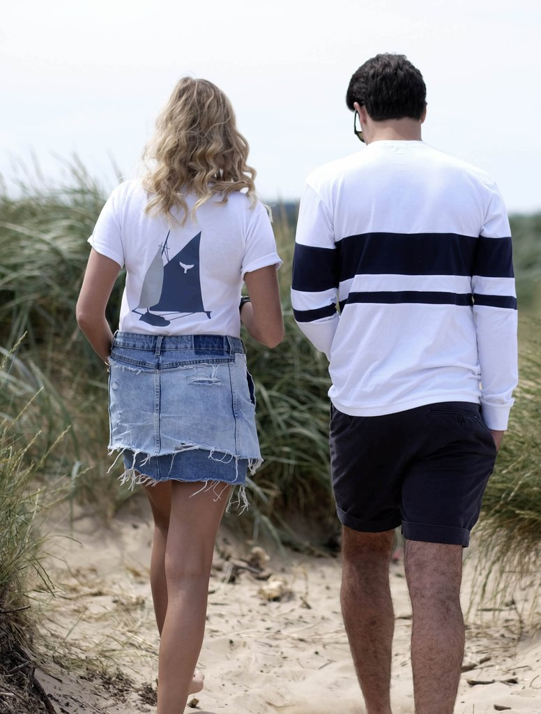 Brancaster Printed Boat Graphic T-Shirt Whale of a Time Clothing