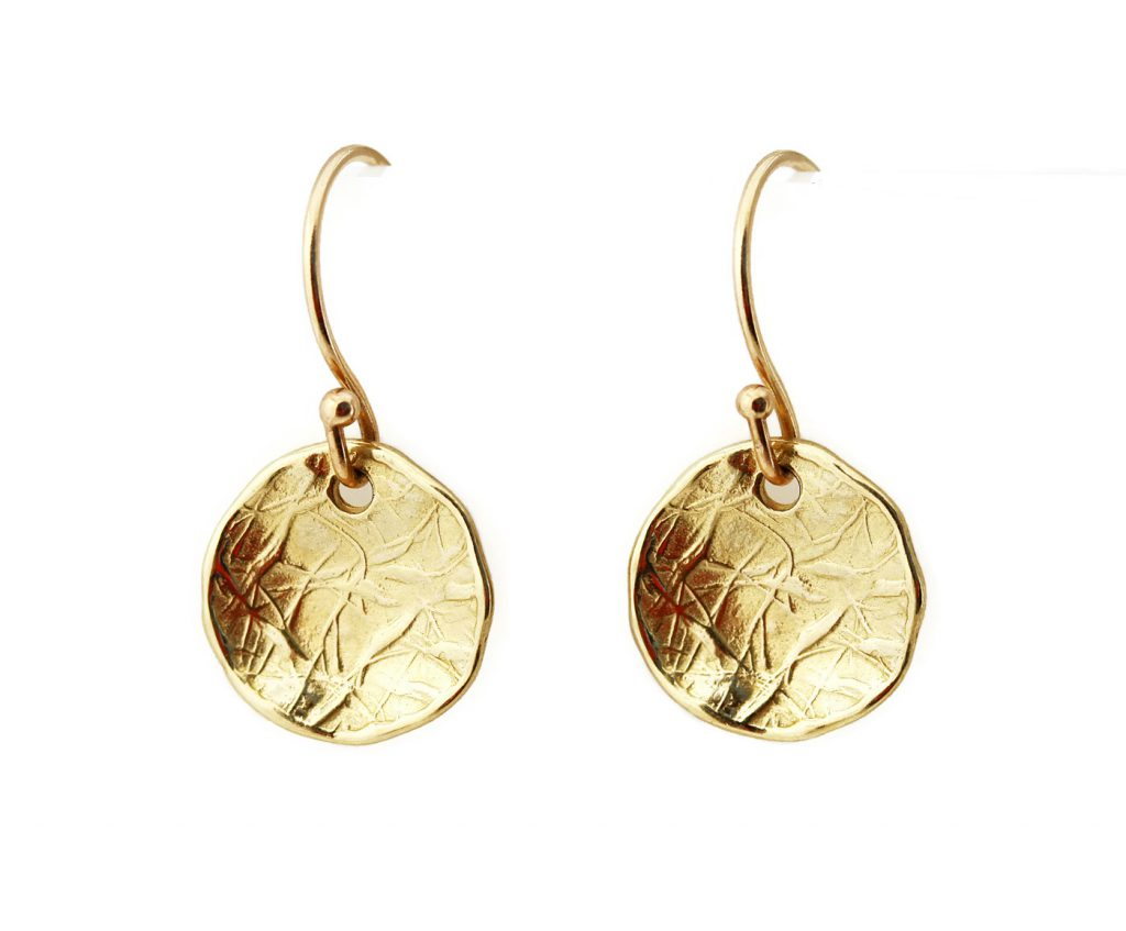 14k Gold Disc Earrings in Yellow Gold Jill McCrystal