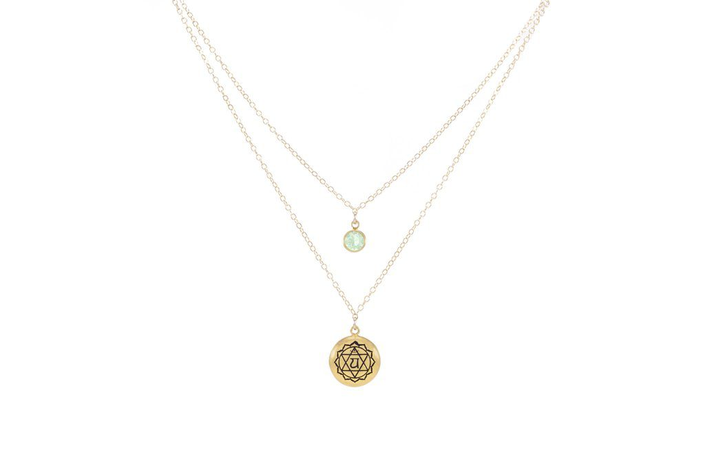 heart-chakra-anahata-double-strand-necklace-18k-gold-finish-gold-fill-green