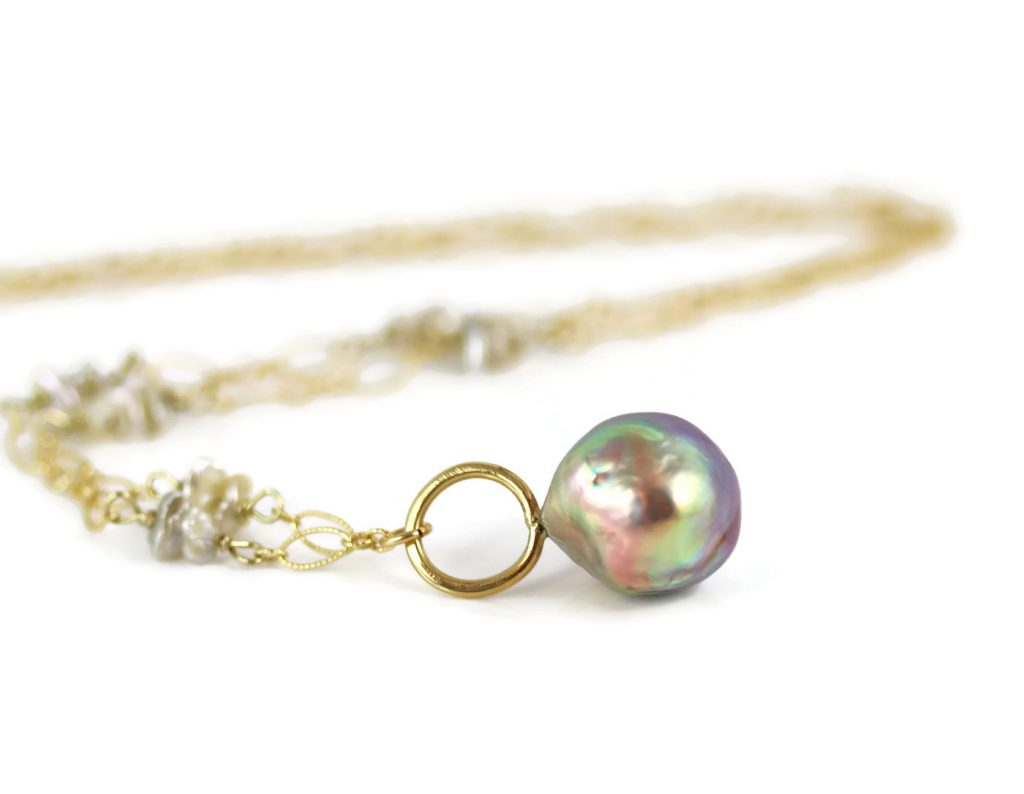Japanese Kasumi Pearl Necklace in 18k Gold Jill McCrystal