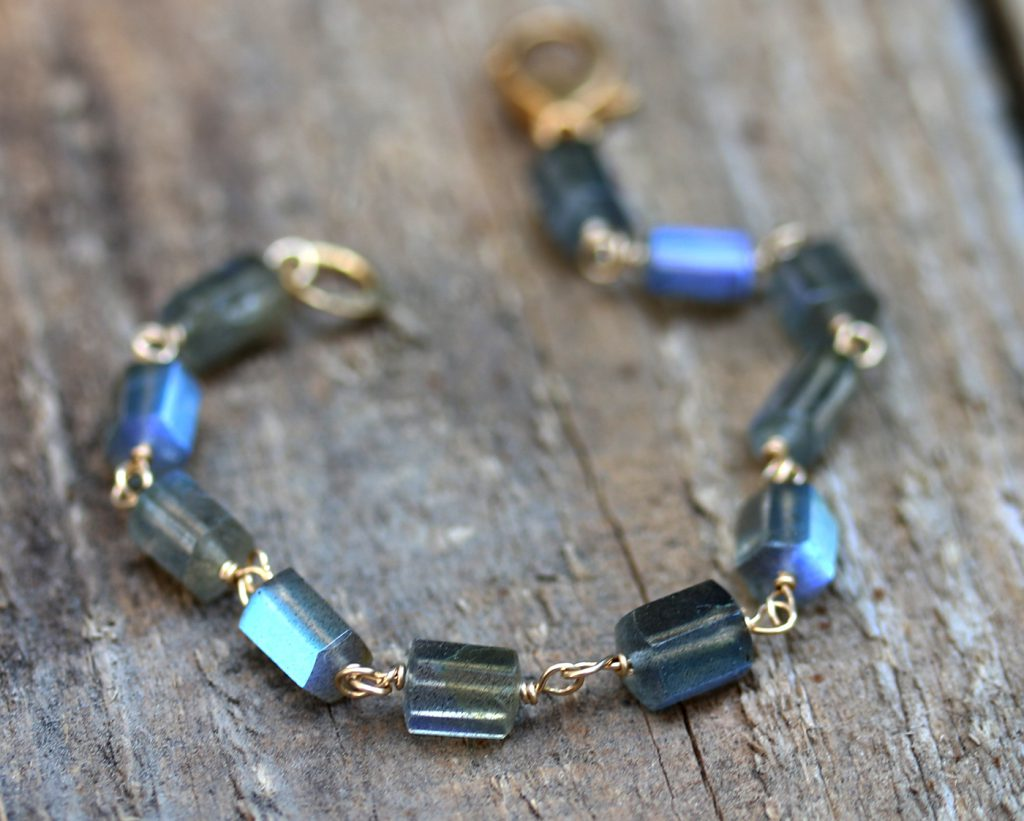 Labradorite Hex Bracelet Aurora Collection Jill McCrystal
