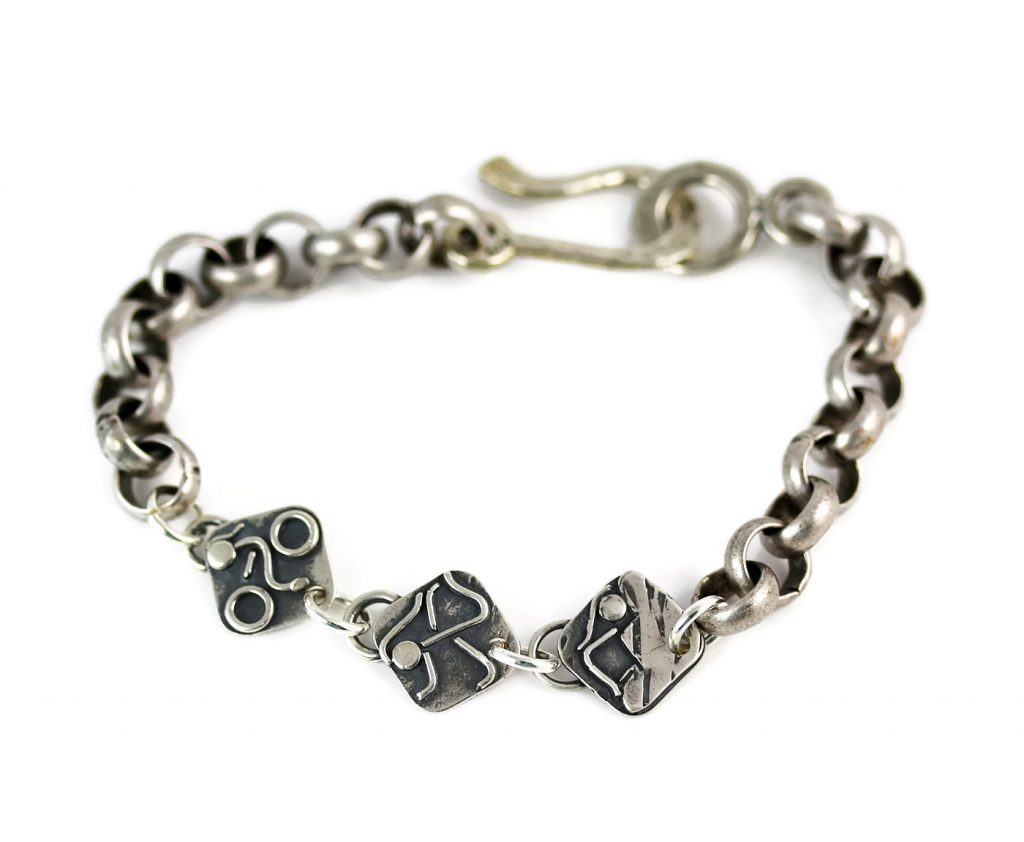 Triathlon Bracelet in Sterling Silver
